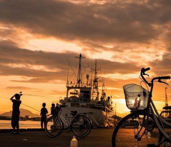 【北海道ミライノート×Domingo】函館市の夕方の港 など