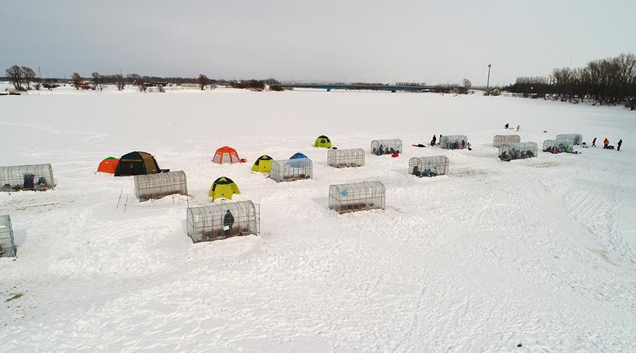 とれた小屋ふじい農場 ワカサギ釣り場